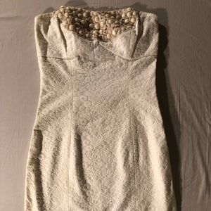 Free People strapless white dress 0